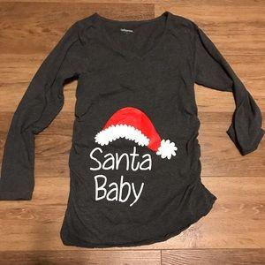Maternity Shirt Christmas Santa Baby